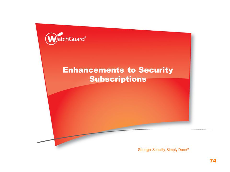Enhancements to Security Subscriptions