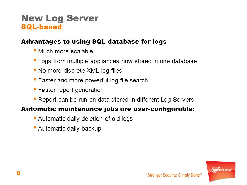 New Log Server SQL-based