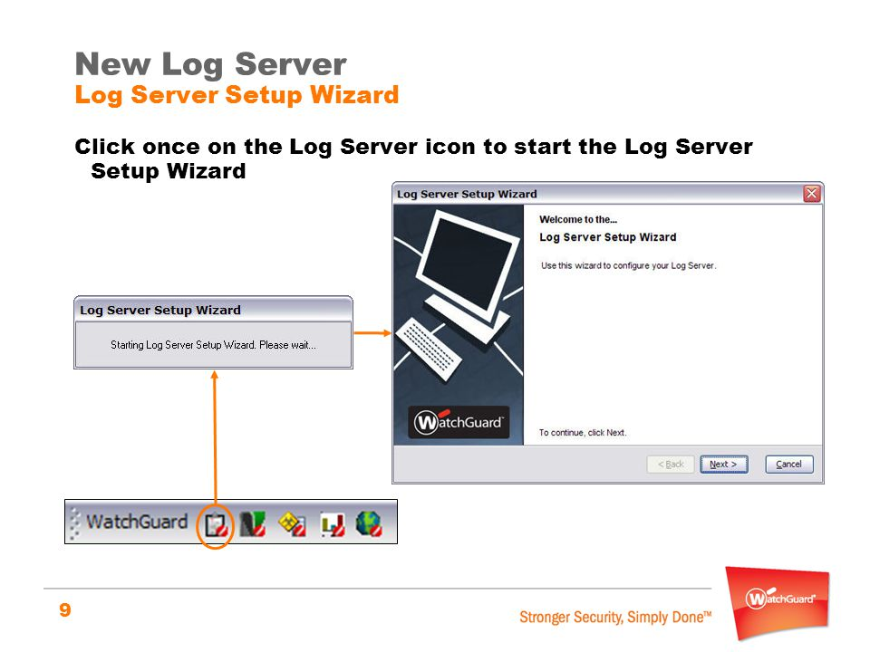 New Log Server Log Server Setup Wizard