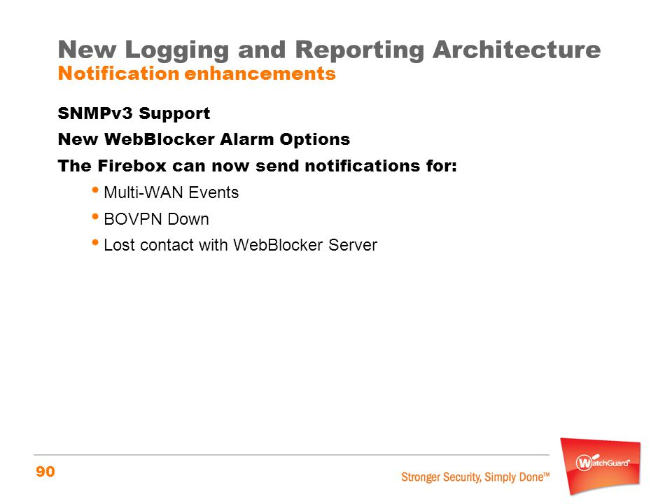 New Logging and Reporting Architecture Notification enhancements