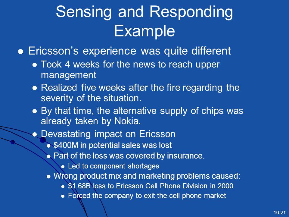 Sensing and Responding Example