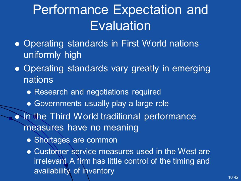 Performance Expectation and Evaluation