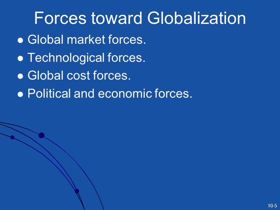 Forces toward Globalization
