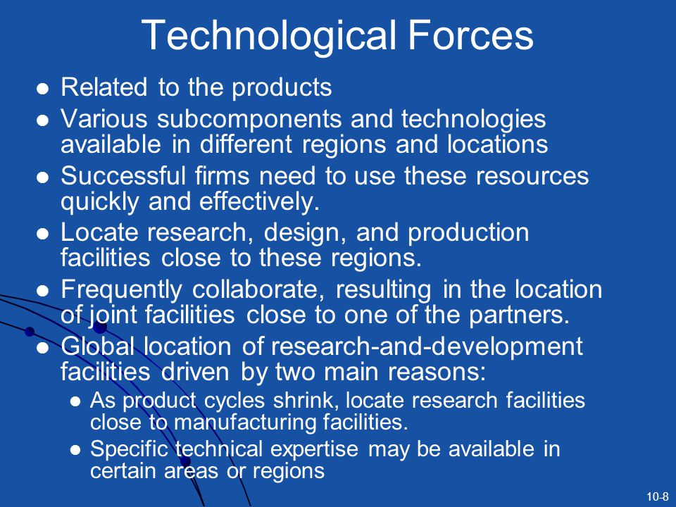 Technological Forces Related to the products