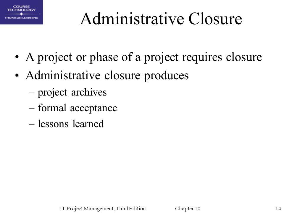 Administrative Closure
