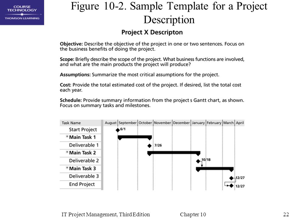 Figure 10-2. Sample Template for a Project Description