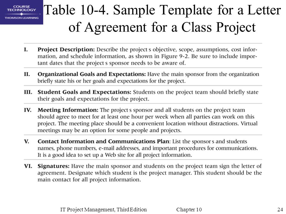 IT Project Management, Third Edition Chapter 10