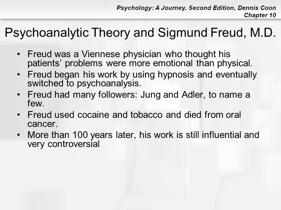 Psychoanalytic Theory and Sigmund Freud, M.D.