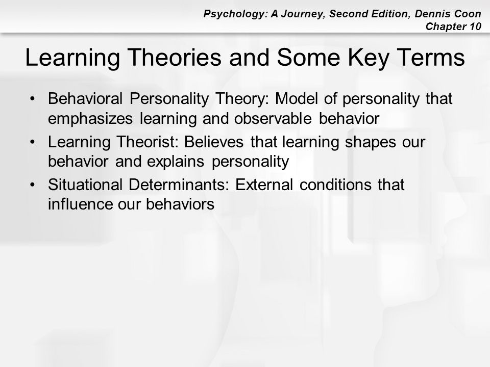 Learning Theories and Some Key Terms
