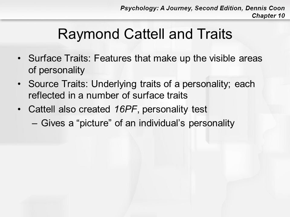 Raymond Cattell and Traits