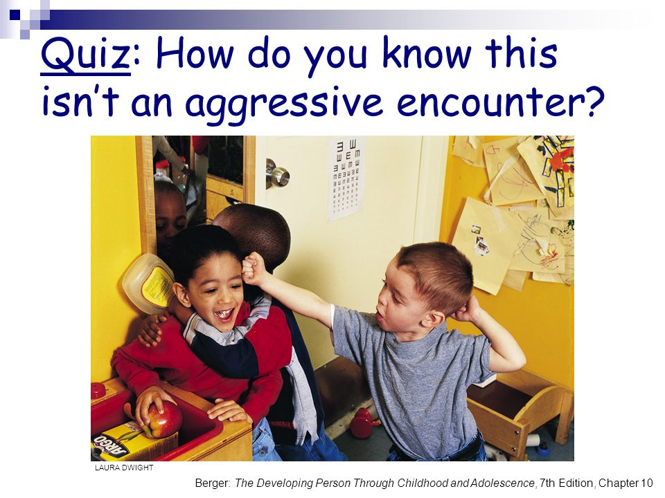Quiz: How do you know this isn't an aggressive encounter