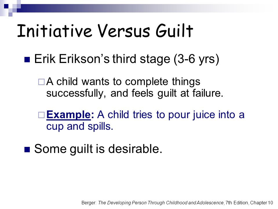 Initiative Versus Guilt