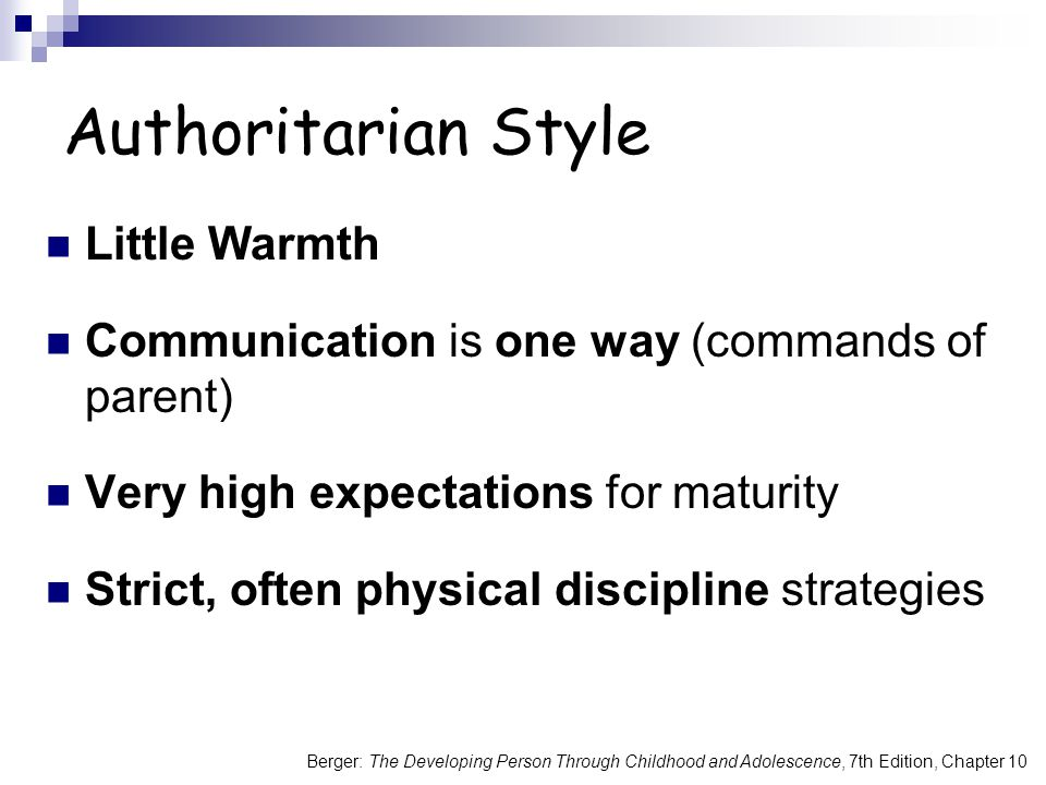 Authoritarian Style Little Warmth