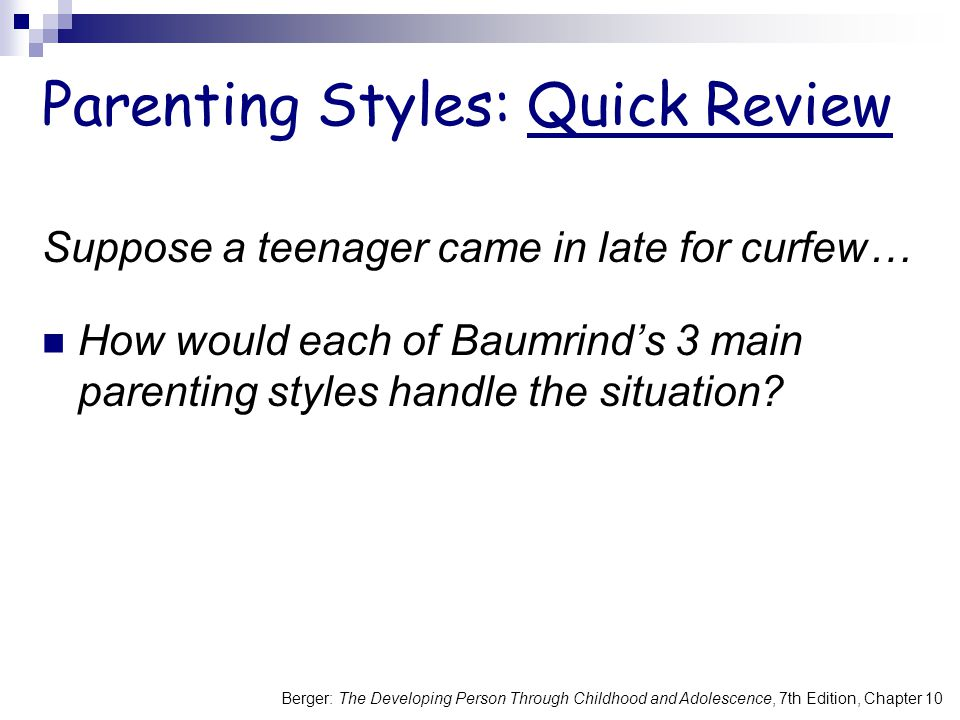 Parenting Styles: Quick Review