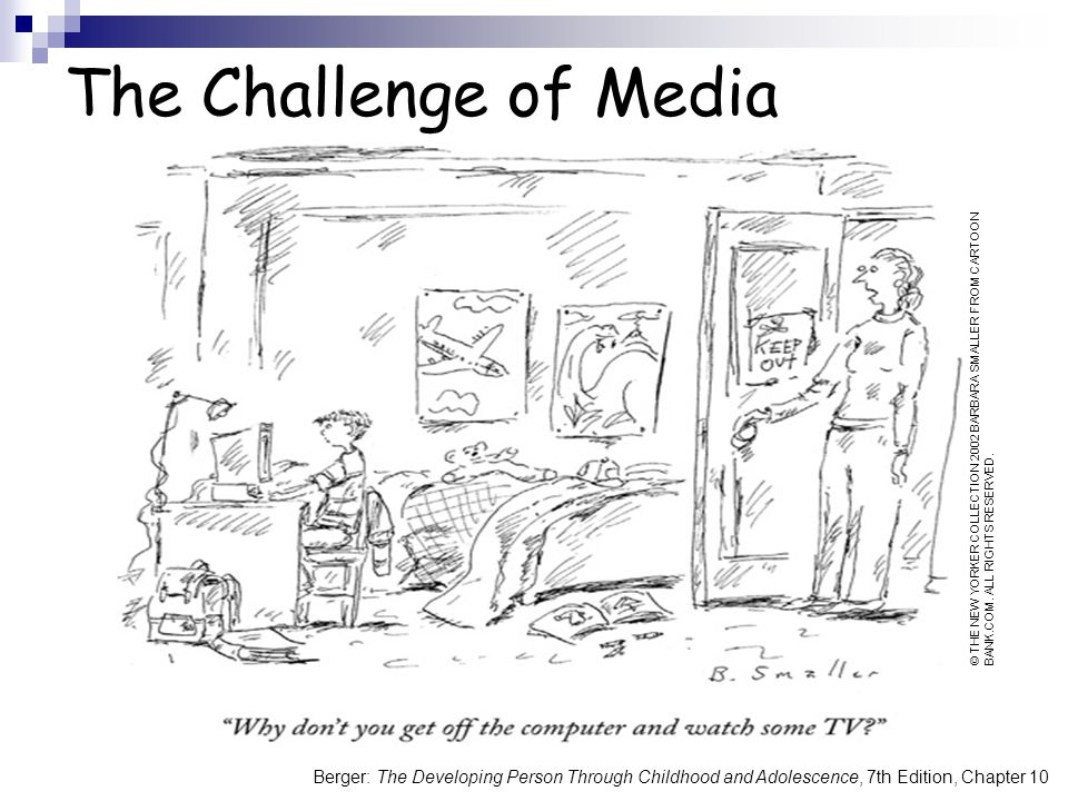 The Challenge of Media © THE NEW YORKER COLLECTION 2002 BARBARA SMALLER FROM CARTOON BANK.COM.