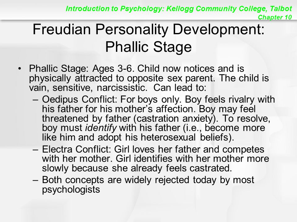 Freudian Personality Development: Phallic Stage