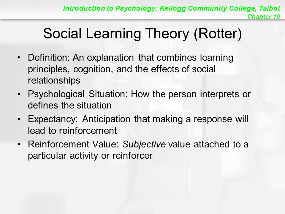 Social Learning Theory (Rotter)
