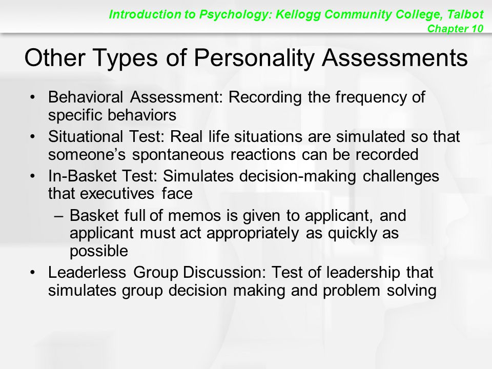 Other Types of Personality Assessments