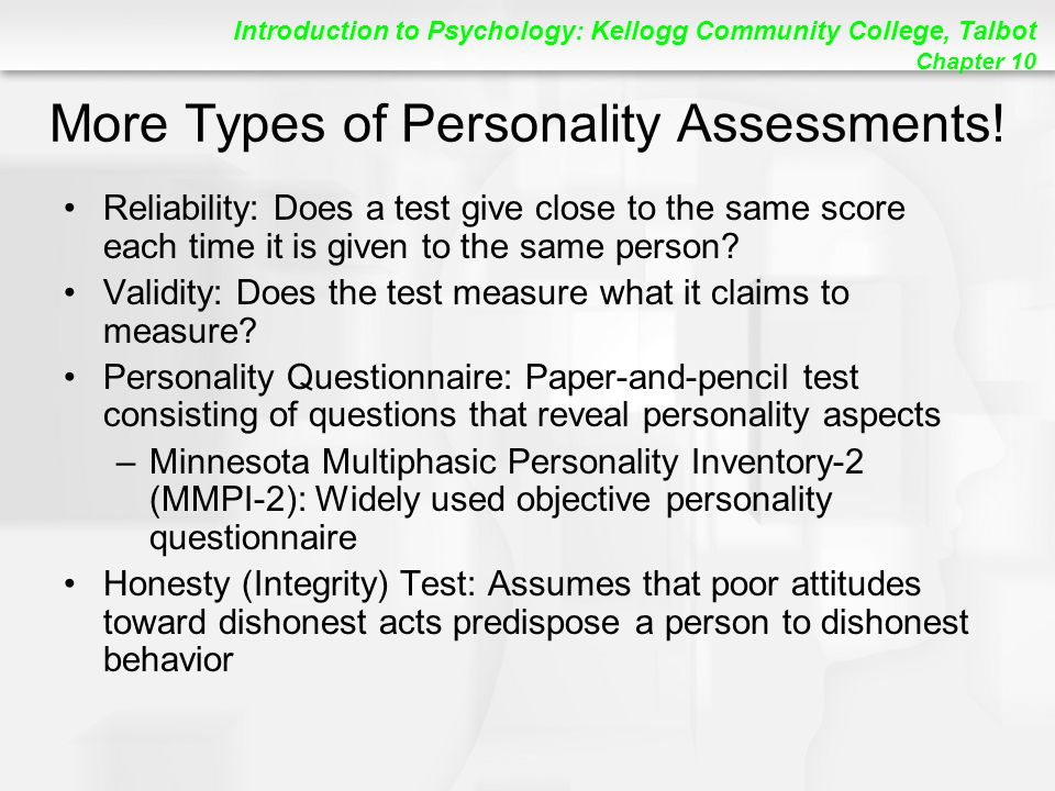 More Types of Personality Assessments!