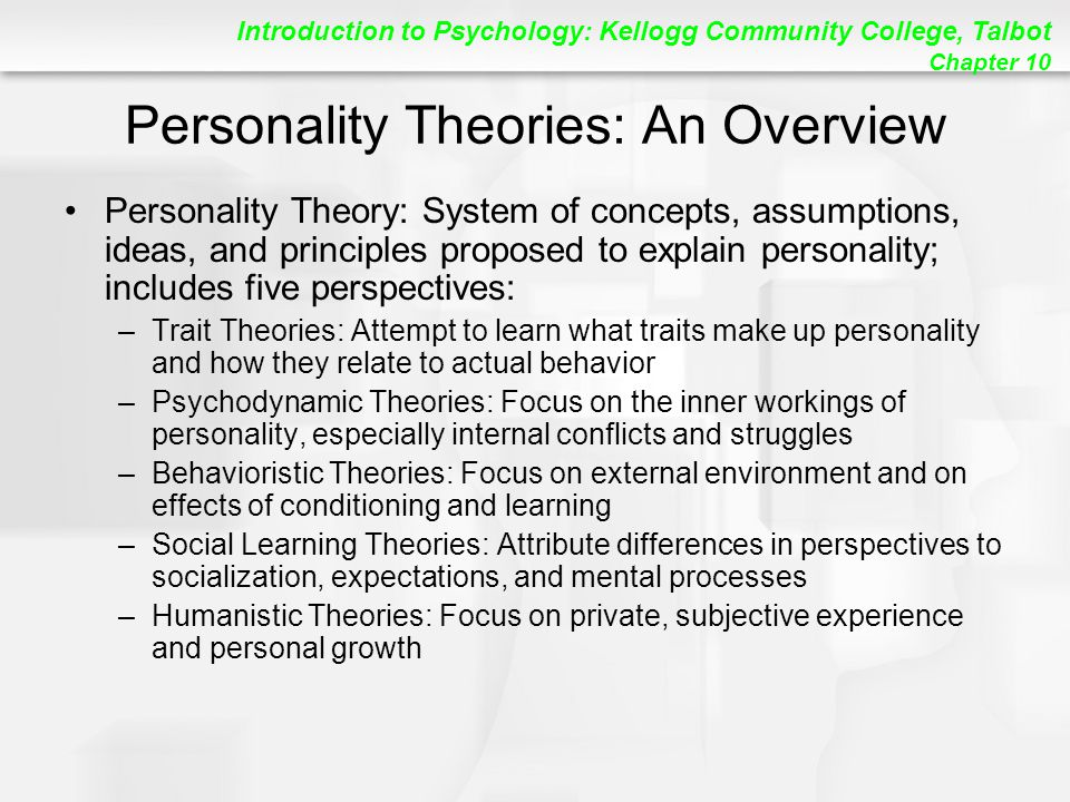 Personality Theories: An Overview