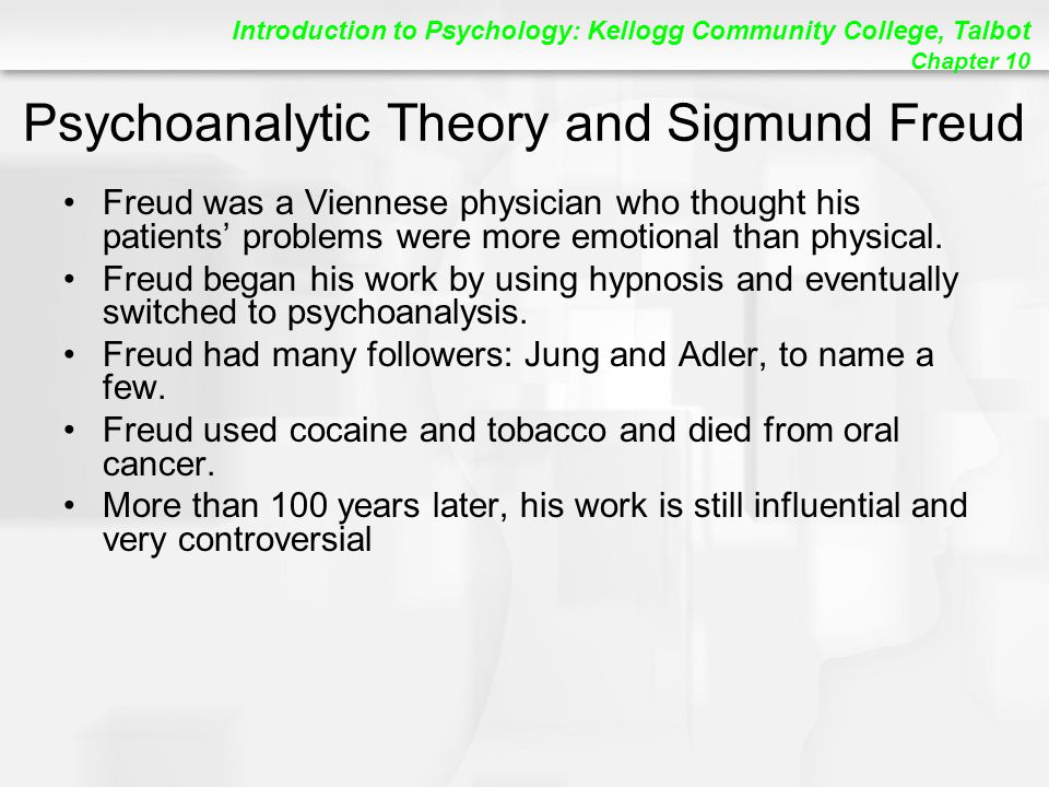 Psychoanalytic Theory and Sigmund Freud