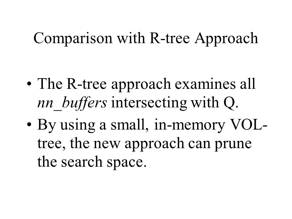 Comparison with R-tree Approach