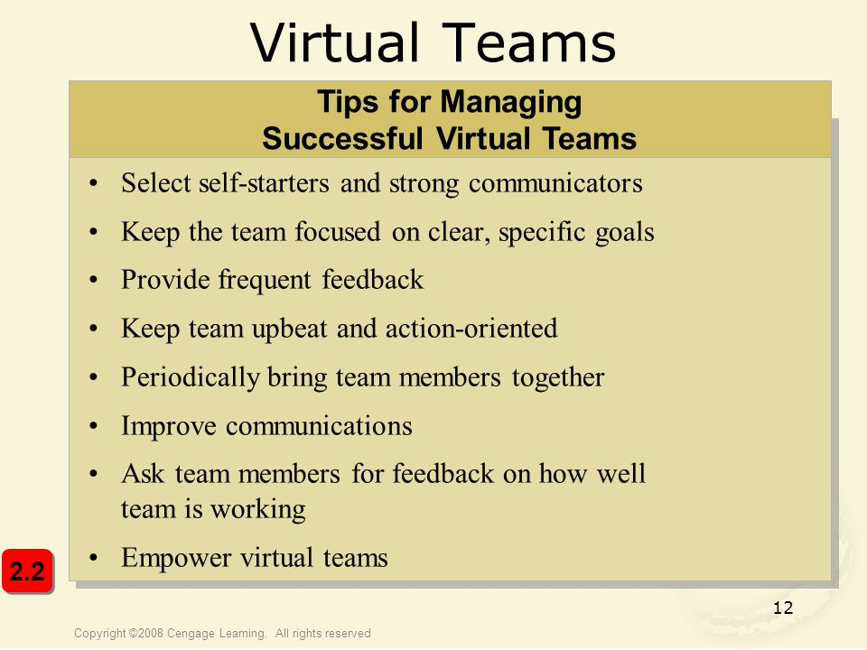 Tips for Managing Successful Virtual Teams