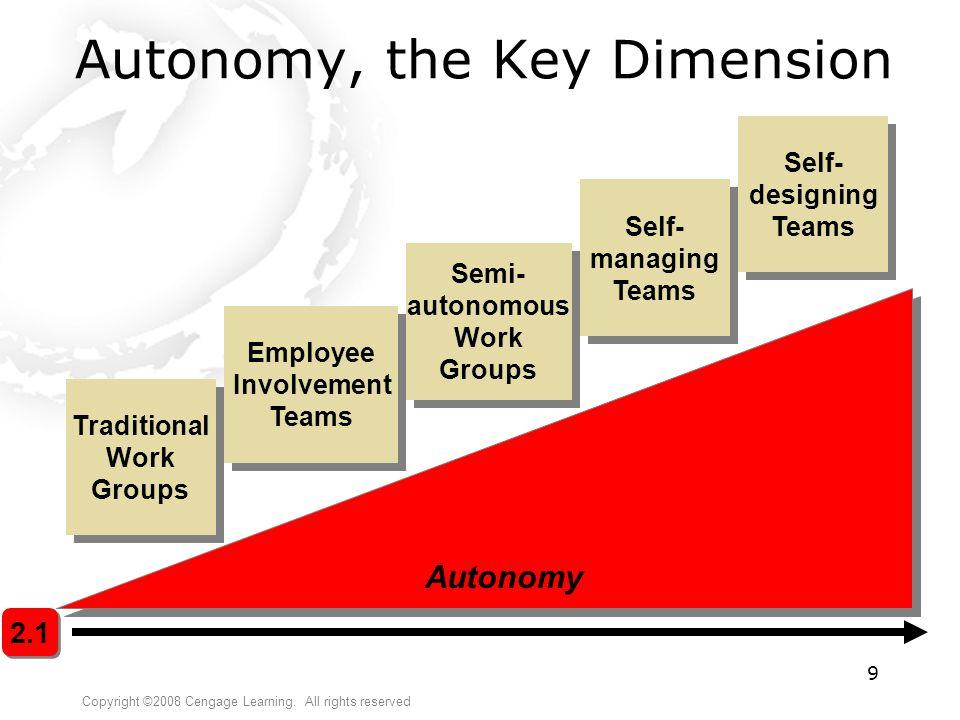 Autonomy, the Key Dimension