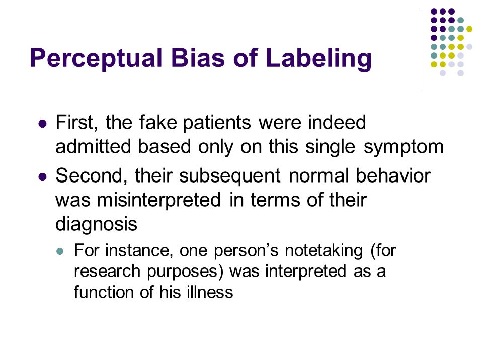Perceptual Bias of Labeling