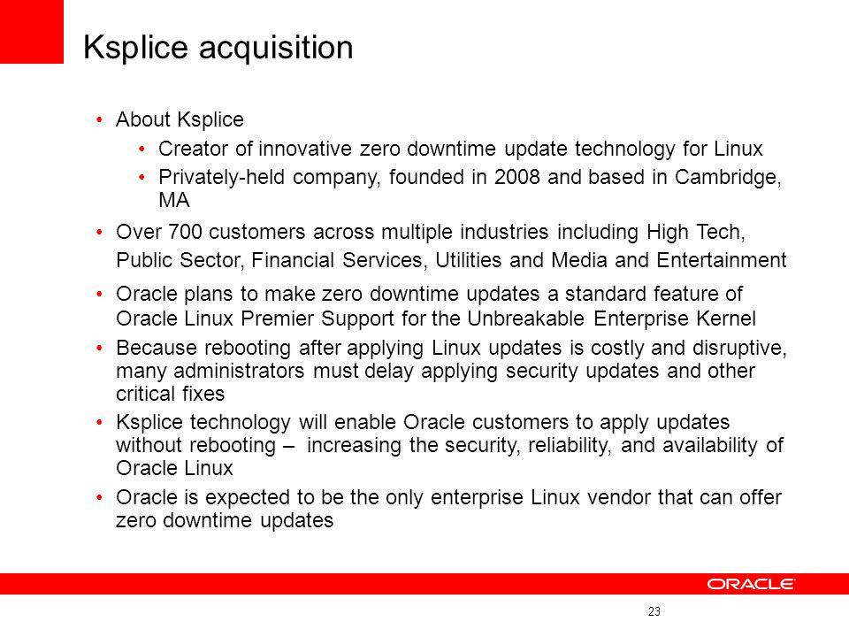 Ksplice acquisition About Ksplice