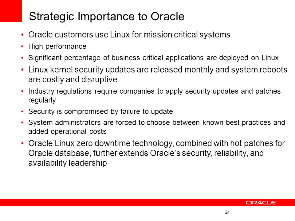 Strategic Importance to Oracle