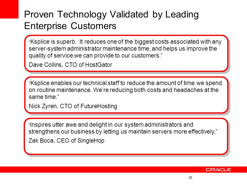 Proven Technology Validated by Leading Enterprise Customers