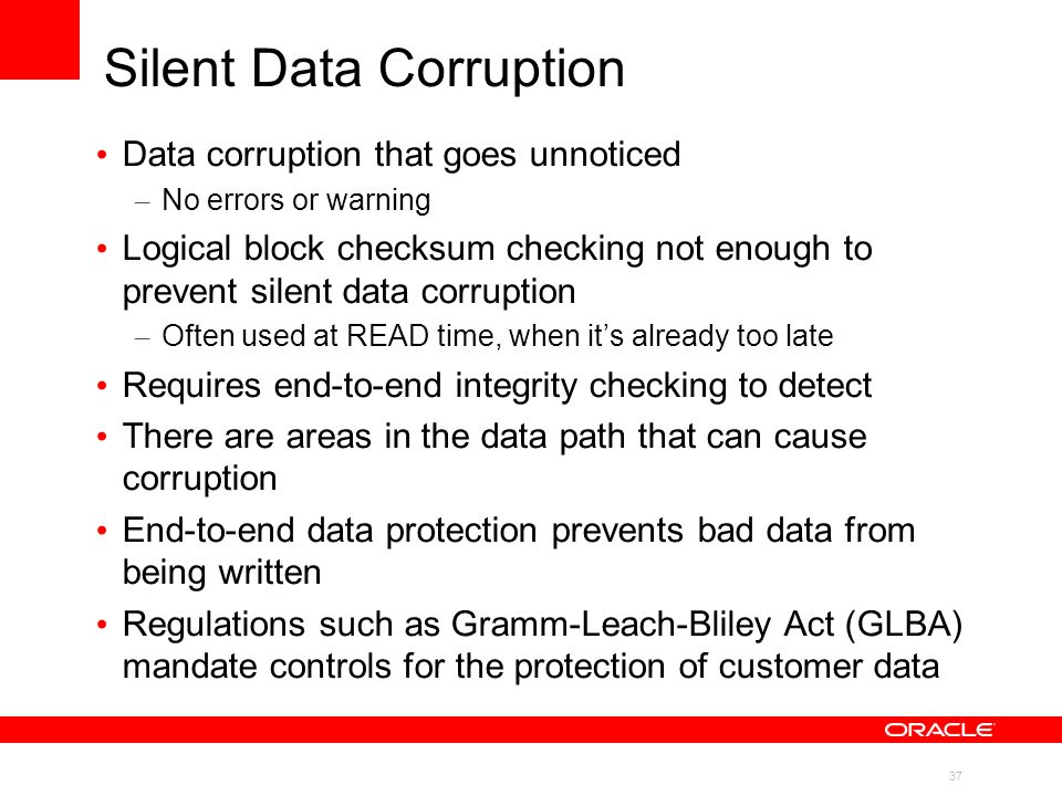 Silent Data Corruption