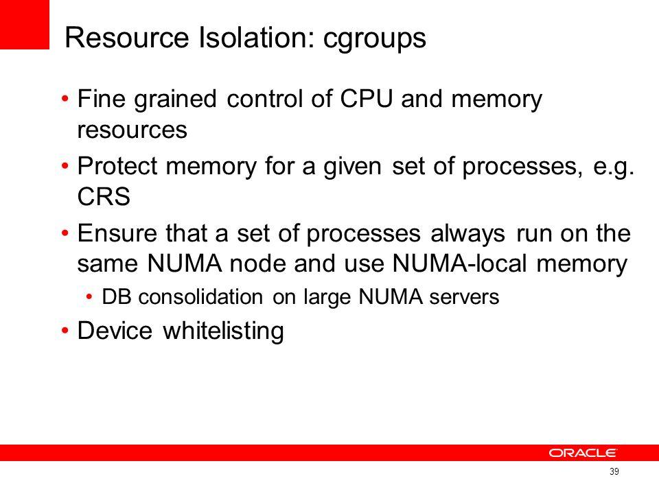 Resource Isolation: cgroups