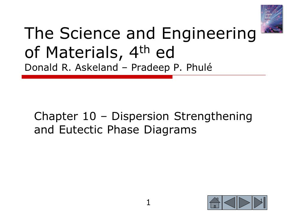Chapter 10 – Dispersion Strengthening and Eutectic Phase Diagrams