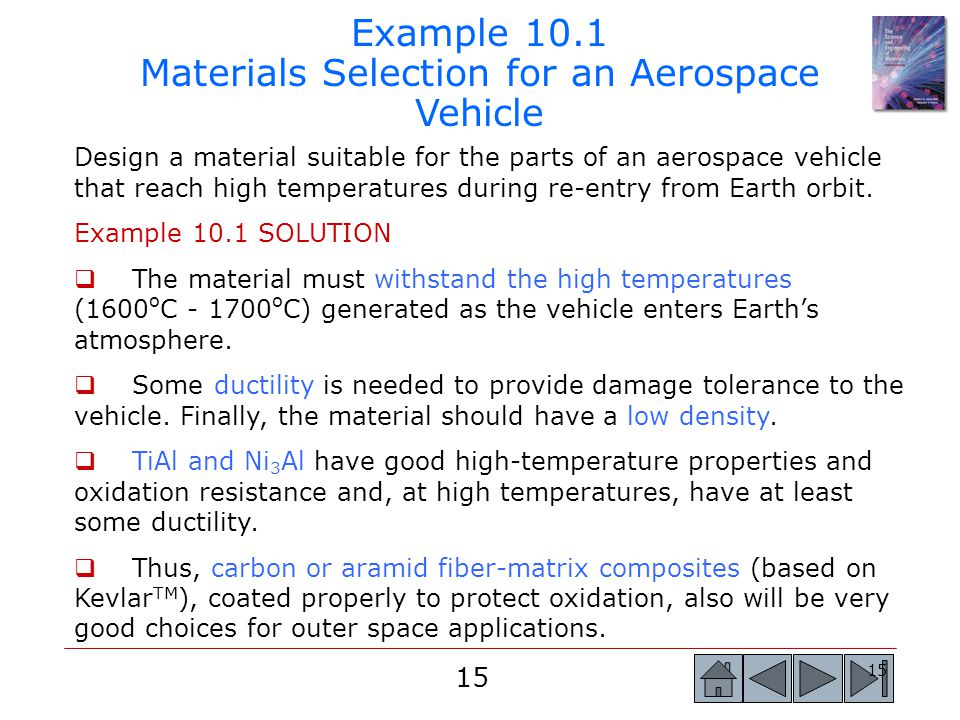 Example 10.1 Materials Selection for an Aerospace Vehicle