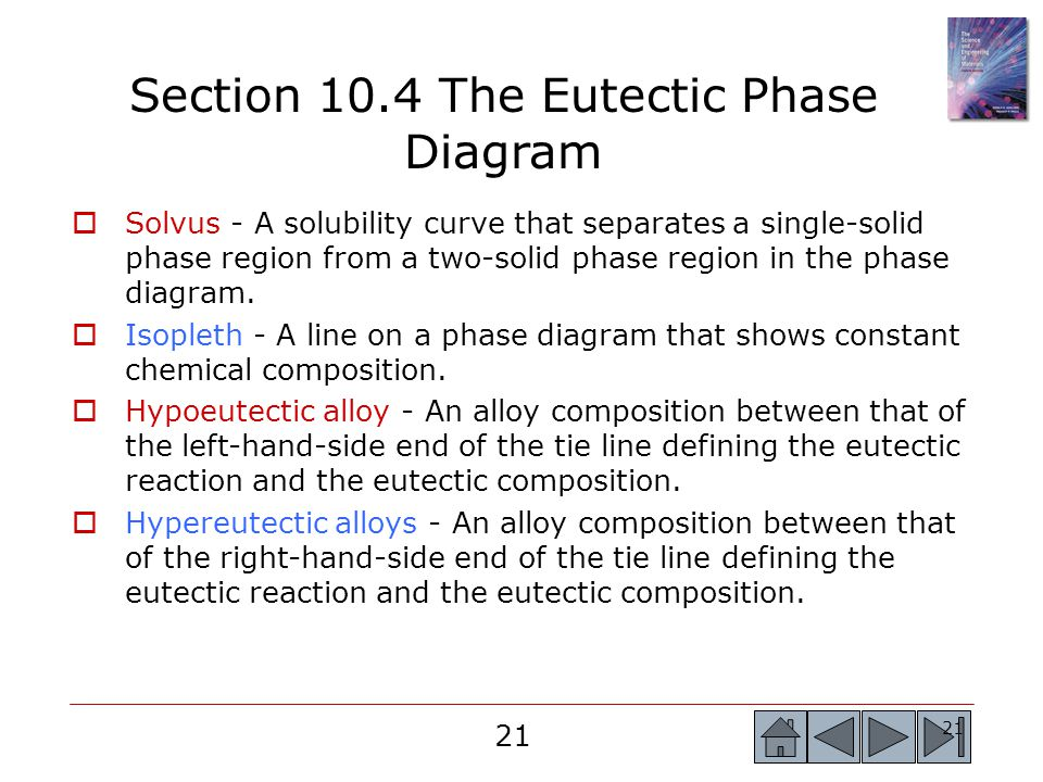 Section 10.4 The Eutectic Phase Diagram