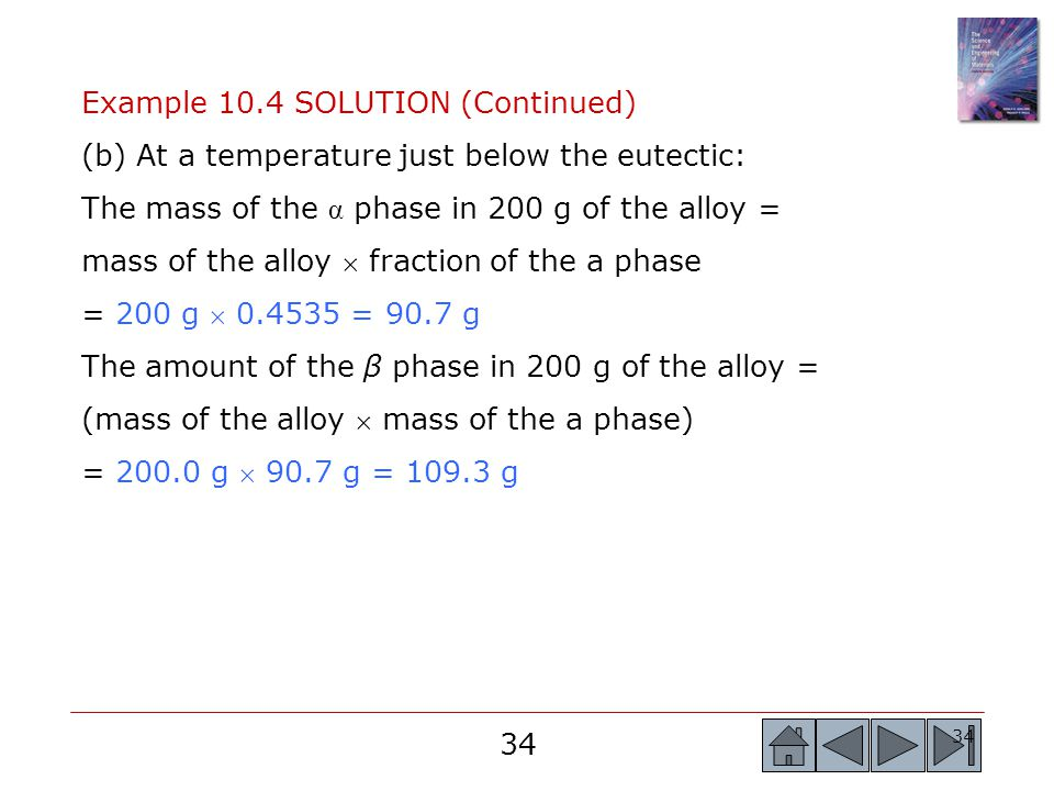 Example 10.4 SOLUTION (Continued)