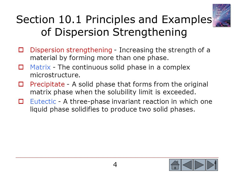 Section 10.1 Principles and Examples of Dispersion Strengthening