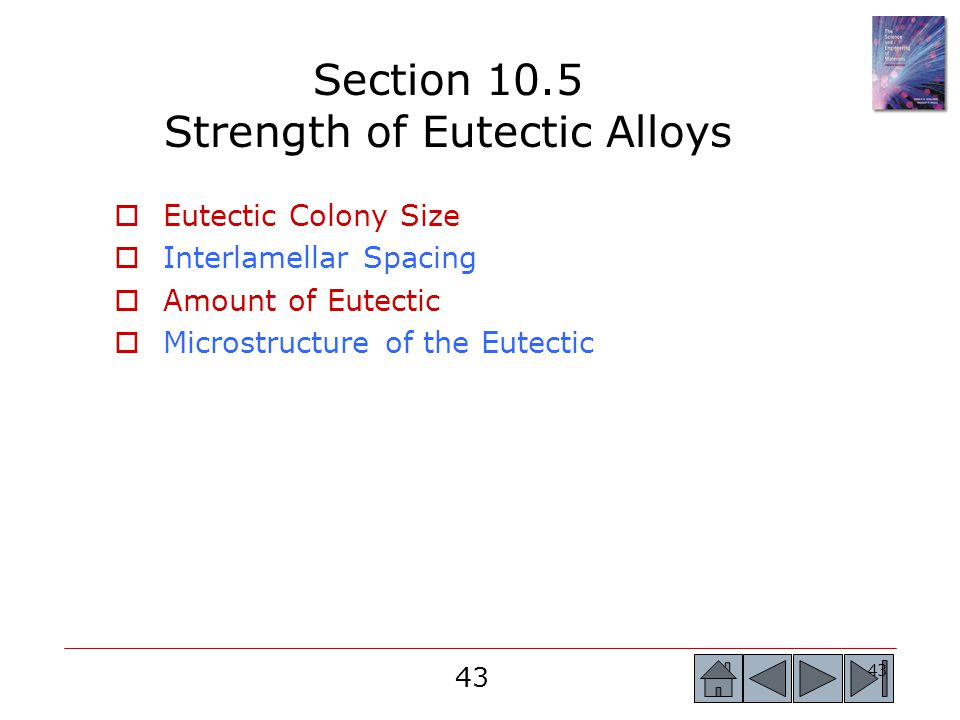 Section 10.5 Strength of Eutectic Alloys