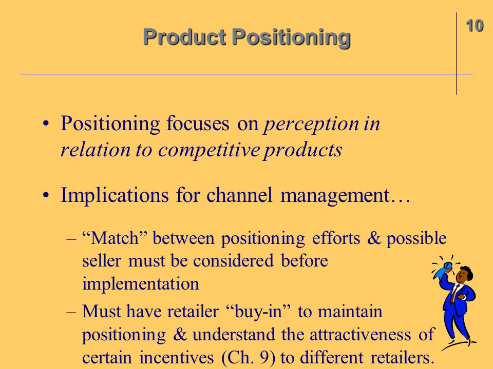 Positioning focuses on perception in relation to competitive products
