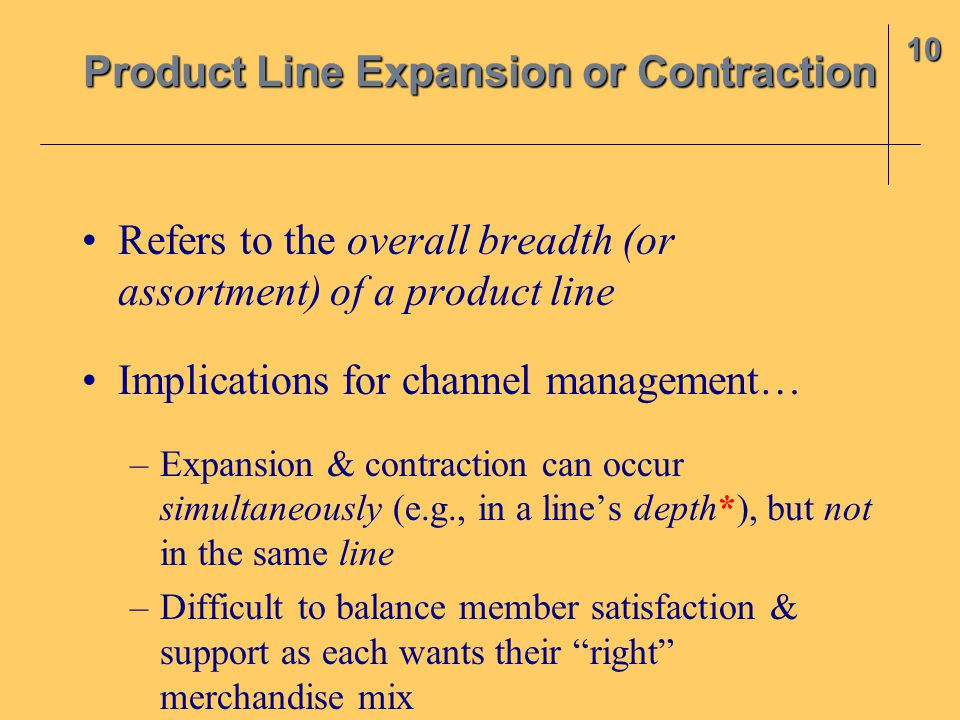 Product Line Expansion or Contraction