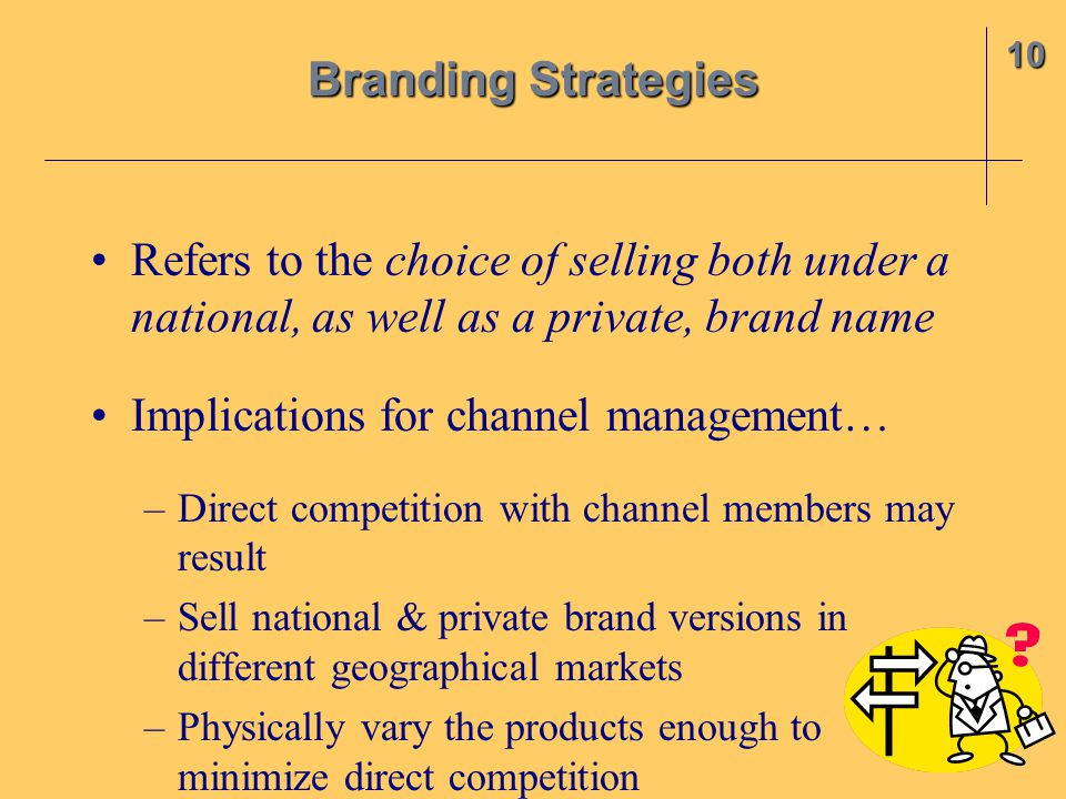 Implications for channel management…