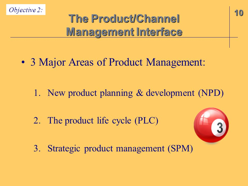 The Product/Channel Management Interface