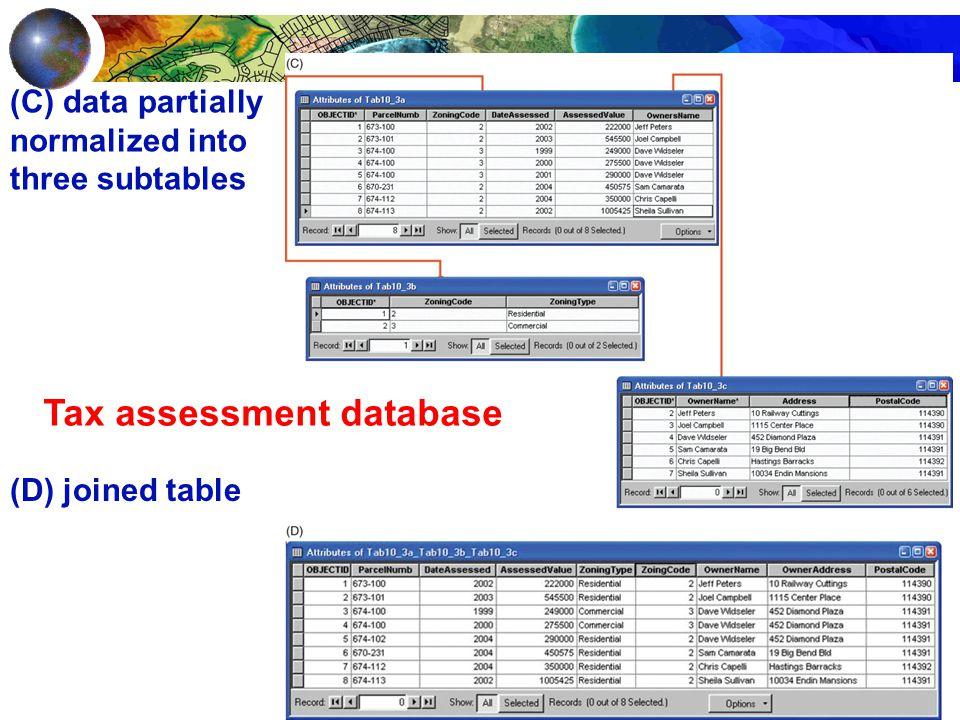 Tax assessment database