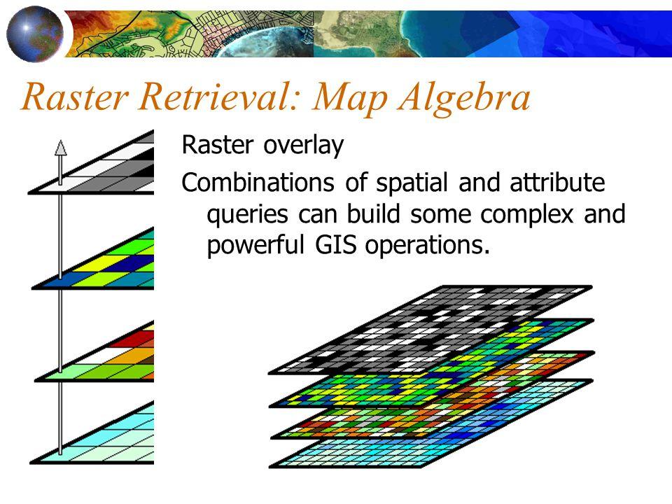 Raster Retrieval: Map Algebra
