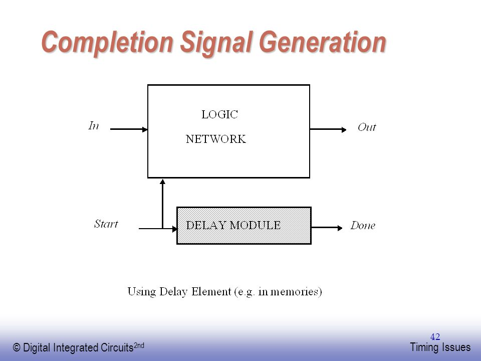 Completion Signal Generation