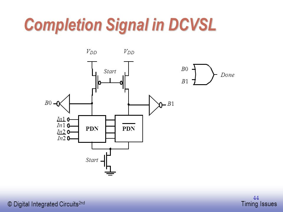 Completion Signal in DCVSL