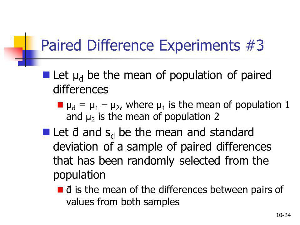 Paired Difference Experiments #3