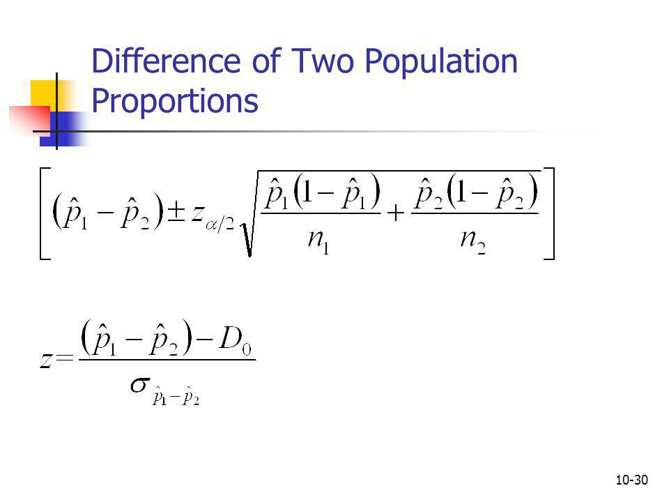 Difference of Two Population Proportions